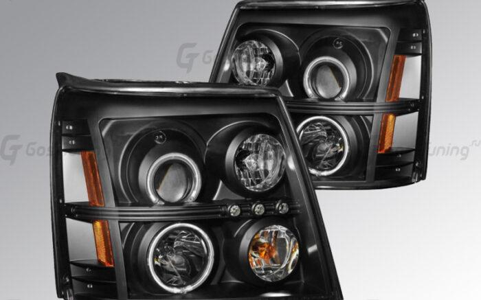 """R05-0100 Передние фары Cadillac Escalade """"Eagle Eyes"""""""