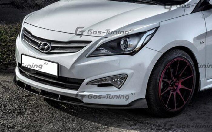 Элерон переднего бампера Hyundai Solaris / Хендай Солярис