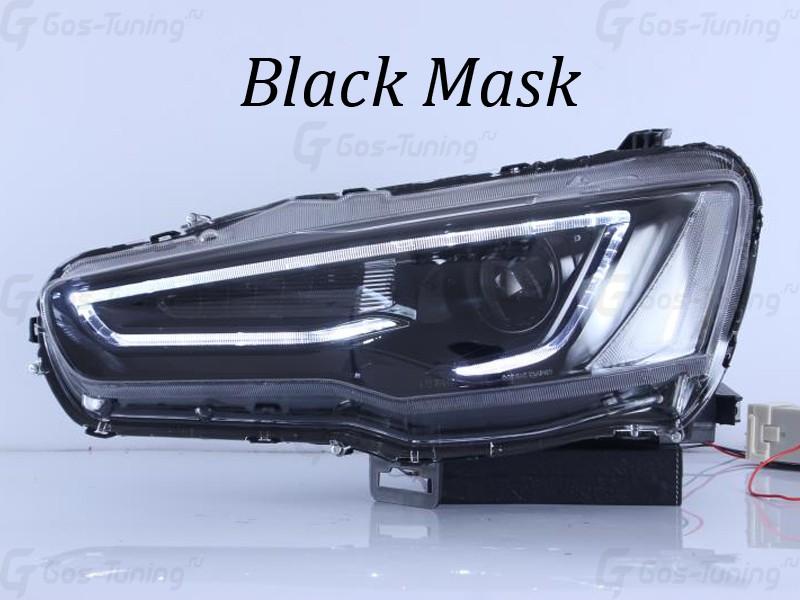 G02-0013 Фары Лансер 10 Black Demon Eye Black Mask Edition