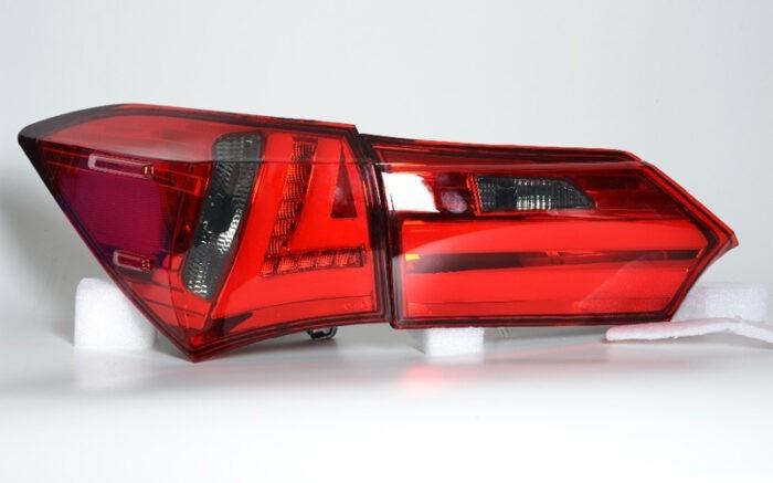 Светодиодные задние фонари Тойота Королла Лексус стиль тонированный красный