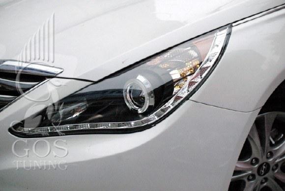 Альтернативная передняя оптика (фары) Черный на автомобиль Hyundai Sonata YF i45.