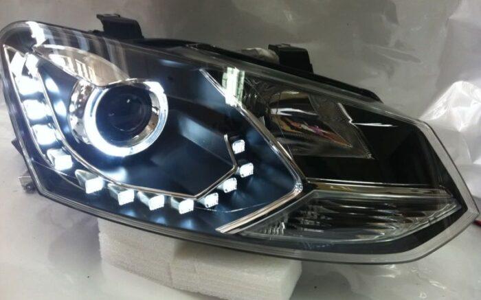 Тюнинг светодиодные фары Volkswagen Polo V