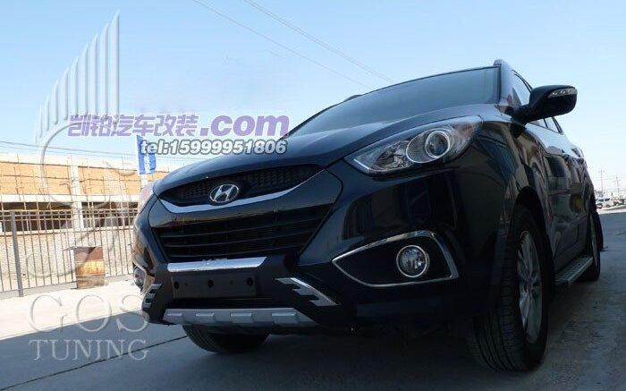 Защиты / Накладки на бампера Хендай IX35 / Hyundai -