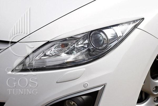 Реснички / накладки на фары на Mazda 6 New