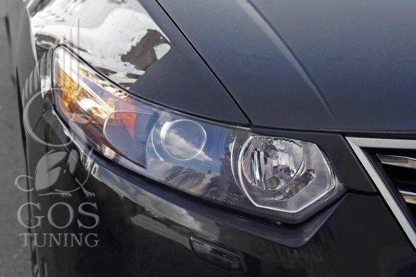 Реснички Хонда Аккорд 8 / накладки на фары Honda Accord 8