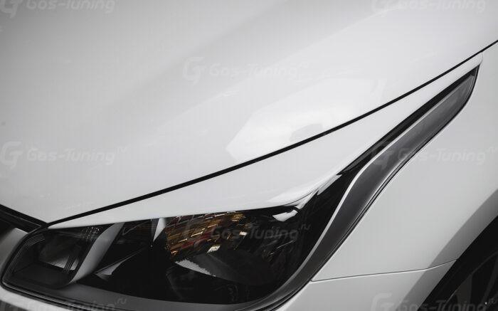 """Купить накладки на фары / Реснички Киа Рио 4 """"GT-Line"""""""