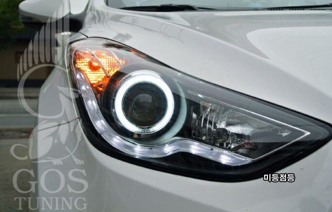 Фары Angel Eyes Hyundai Elantra Avante
