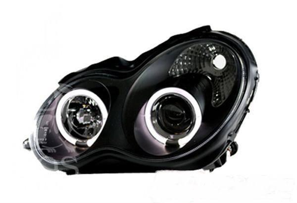 Передняя альтернативная оптика на Mercedes c-class w203