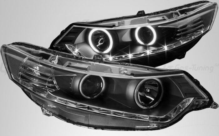 Светодиодные передние фары Хонда Аккорд 8