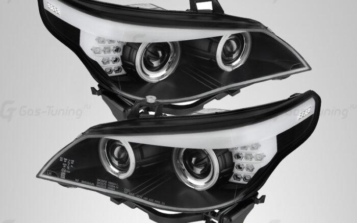 """Купить передние фары БМВ Е60 5 серии """"Angel Eyes"""""""
