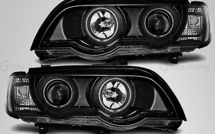 """Тюнинг передние фары БМВ Х5 Е53 """"Angel Eyes"""""""
