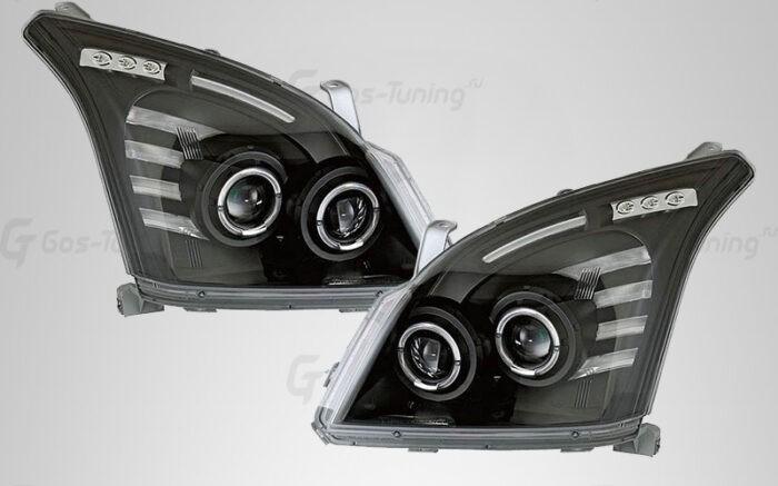 Светодиодные тюнинг передние фары Тойота Прадо 120 - ГОС-Тюнинг