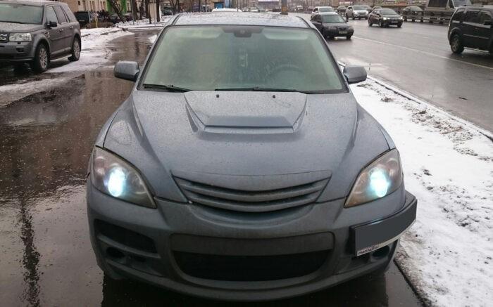 Капот Mazda 3 Hatchback / hood Кайен Стиль Мазда 3