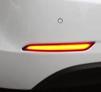 Диодные отражатели заднего бампера на Hyundai Elantra / Avanta MD