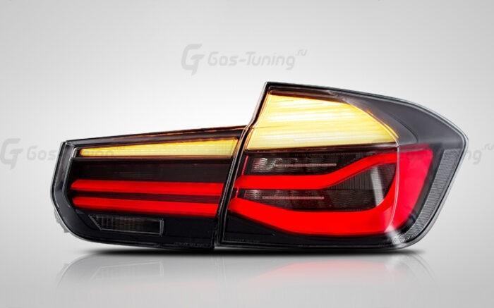 "G02-0190 Тюнинг задние фонари БМВ 3 Ф30 ""Full Led Edition"" (Тонированный)"