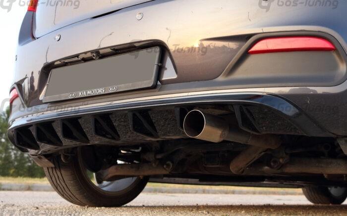 "Накладка на задний бампер / диффузор Kia Ceed Hatchback ""GT-Line"" (Дорестайлинг)"