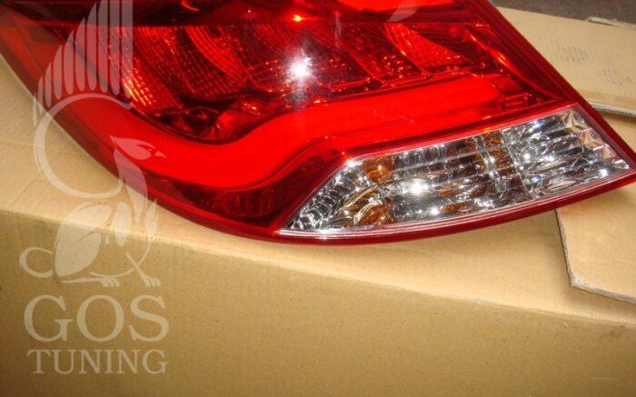 Альтернативные задние фонари «BMW Design» (прозрачный, красный) на автомобиль Хендай Солярис 2010+