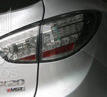 Альтернативные задние фонари «Benz Style» (тонированный хром) на автомобиль Hyundai Tucson IX / IX35