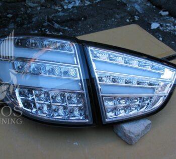 Альтернативные задние фонари «BMW Design» (Прозрачный, хром) на автомобиль Hyundai Tucson IX / IX35
