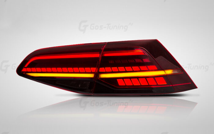 """Купить задние светодиодные фонари Фольксваген Гольф 7 """"Audi Style"""""""