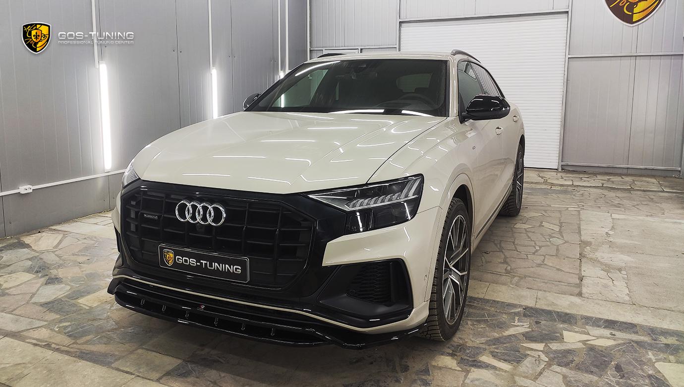 """Установка сплиттера Audi Q8 """"Maxton Design"""""""